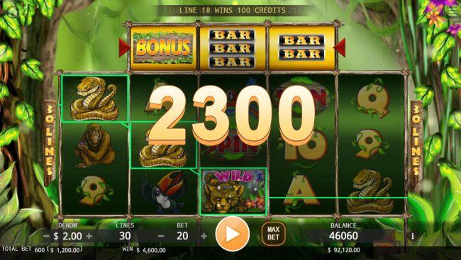 Jungle :: Multiple winning paylines