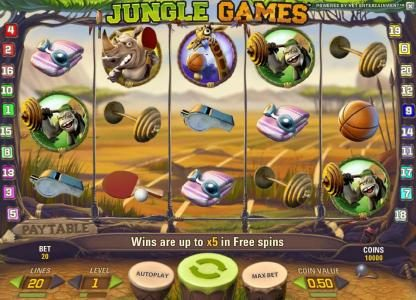 Play slots at 7Red: 7Red featuring the Video Slots Jungle Games with a maximum payout of $4,000