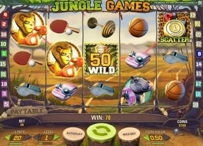 Diamond Club VIP featuring the Video Slots Jungle Games with a maximum payout of $4,000