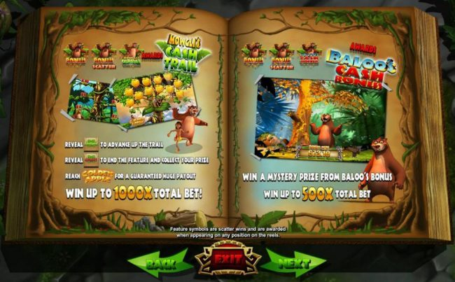 Casiplay featuring the Video Slots Jungle Jackpots Mowgli's Wild Adventure with a maximum payout of $12,500