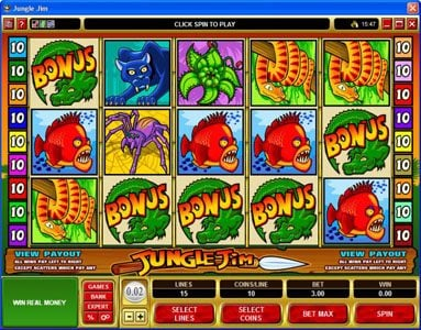 Golden Reef featuring the Video Slots Jungle Jim with a maximum payout of $20,000