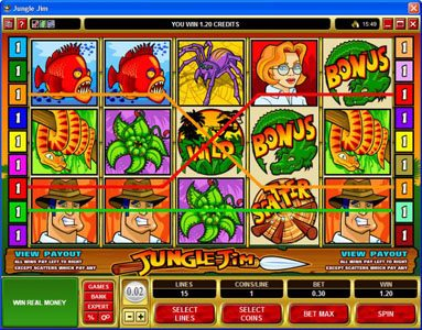 Casino Room featuring the Video Slots Jungle Jim with a maximum payout of $20,000