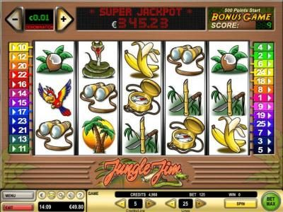 Play slots at Coral: Coral featuring the Video Slots Jungle Jim with a maximum payout of $10,000