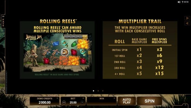 Genesis Casino featuring the Video Slots Jungle Jim El Dorado with a maximum payout of $92,000