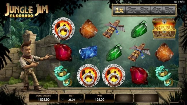 Cabaret Club featuring the Video Slots Jungle Jim El Dorado with a maximum payout of $92,000