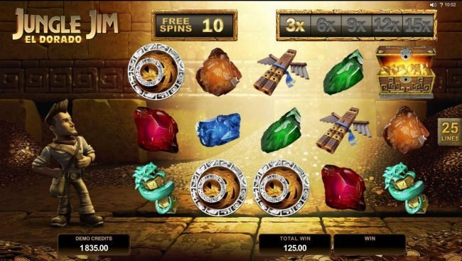 Monaco Aces featuring the Video Slots Jungle Jim El Dorado with a maximum payout of $92,000