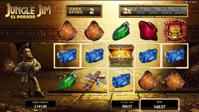 Blackjack Ballroom featuring the Video Slots Jungle Jim El Dorado with a maximum payout of $92,000