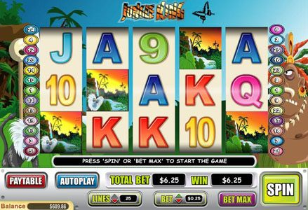 Miami Club featuring the Video Slots Jungle King with a maximum payout of $75,000