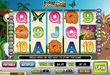 Play slots at Red Stag: Red Stag featuring the Video Slots Jungle King with a maximum payout of $75,000