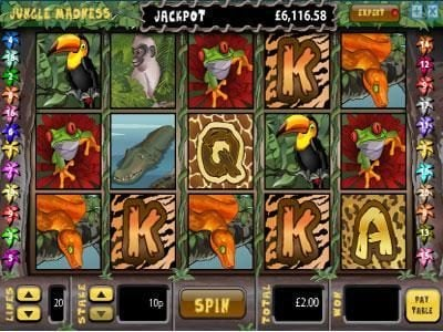 Play slots at Casino BTC: Casino BTC featuring the Video Slots Jungle Madness with a maximum payout of $5,000