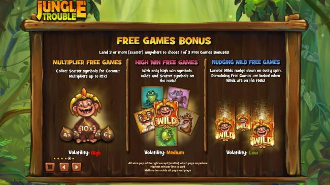BGO Vegas featuring the Video Slots Jungle Trouble with a maximum payout of $5,000