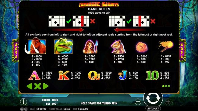 Play slots at MANSION: MANSION featuring the Video Slots Jurassic Giants with a maximum payout of $20,000