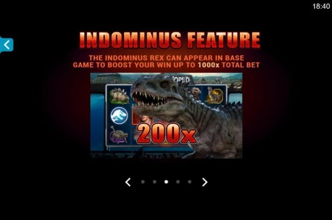 Casino Classic featuring the Video Slots Jurassic World with a maximum payout of $102.000