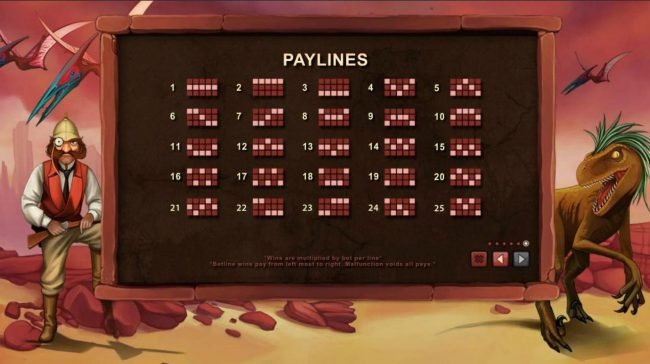 Payline Diagrams 1-25.