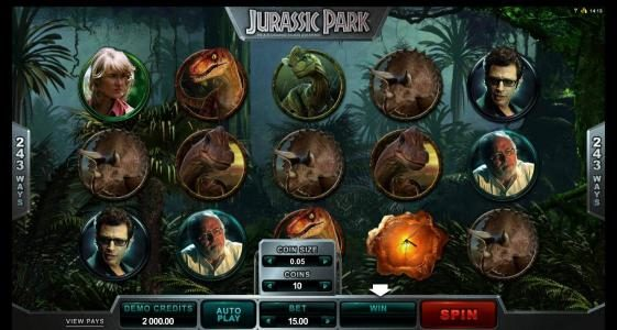 Roxy Palace featuring the Video Slots Jurassic Park with a maximum payout of $475,000