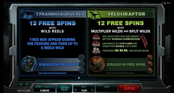 YouWin featuring the Video Slots Jurassic Park with a maximum payout of $475,000
