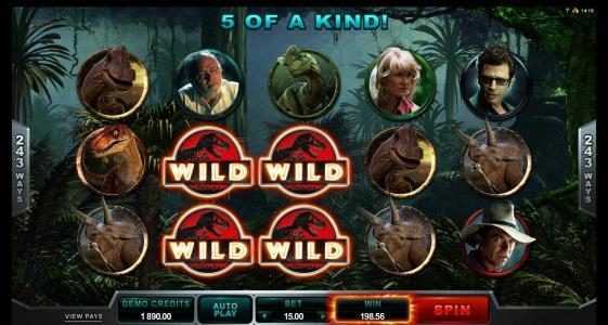 Phoenician featuring the Video Slots Jurassic Park with a maximum payout of $475,000