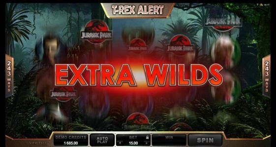 VipSpel featuring the Video Slots Jurassic Park with a maximum payout of $475,000
