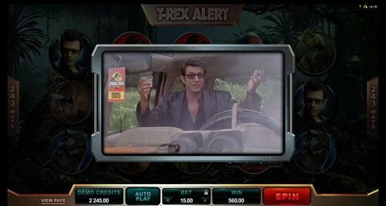 Fortune Junction featuring the Video Slots Jurassic Park with a maximum payout of $475,000