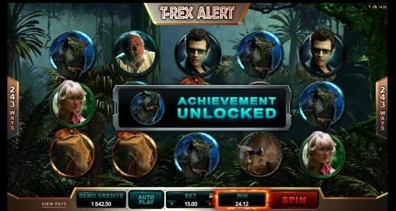 18 Bet featuring the Video Slots Jurassic Park with a maximum payout of $475,000