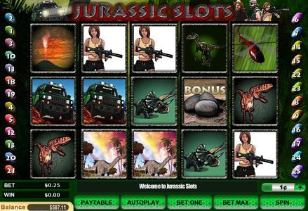 Miami Club featuring the Video Slots Jurassic Slots with a maximum payout of $50,000