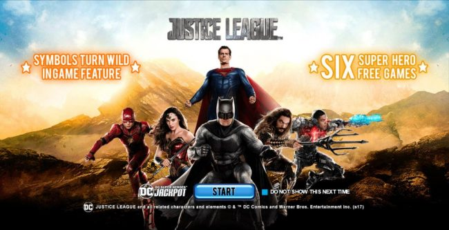 Winner Online featuring the Video Slots Justice League with a maximum payout of $25,000