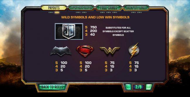 Justice League :: Wild Symbol Rules