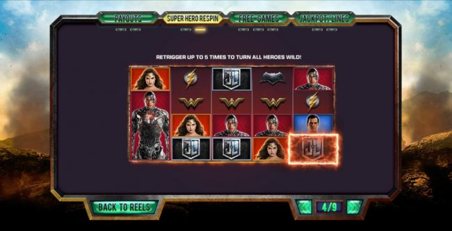 Justice League :: Super Hero Respin Rules - Continued