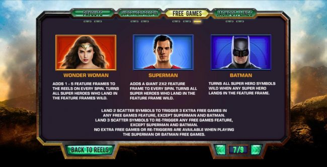 Circus Casino featuring the Video Slots Justice League with a maximum payout of $25,000