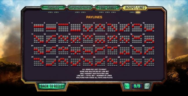 BGO Vegas featuring the Video Slots Justice League with a maximum payout of $25,000