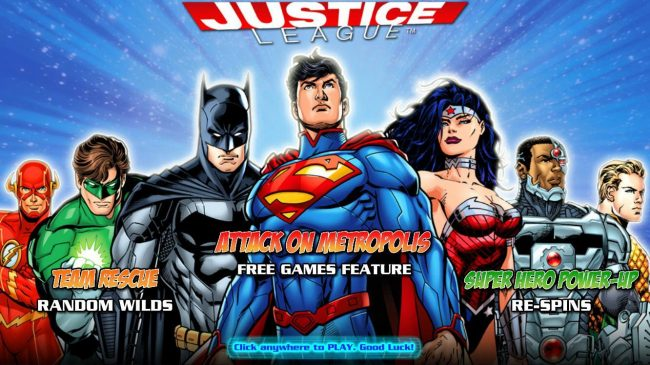 Play slots at 6 Black: 6 Black featuring the Video Slots Justice League with a maximum payout of $600