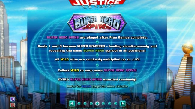 Euro King featuring the Video Slots Justice League with a maximum payout of $600