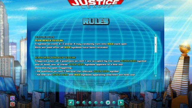 Feature Rules and Super Hero Power-Up Feature Rules