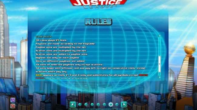 Deuce Club featuring the Video Slots Justice League with a maximum payout of $600