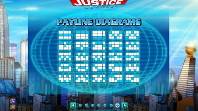 Enzo Casino featuring the Video Slots Justice League with a maximum payout of $600