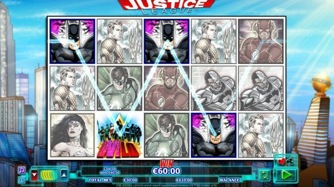 Bet At Casino featuring the Video Slots Justice League with a maximum payout of $600