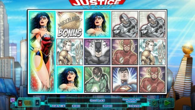 Casino Room featuring the Video Slots Justice League with a maximum payout of $600