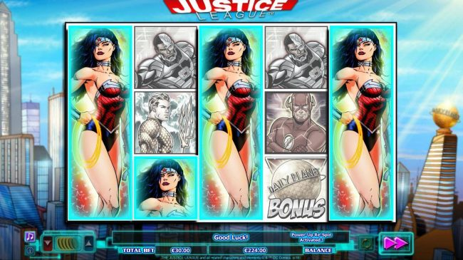 Jackpot Mobile featuring the Video Slots Justice League with a maximum payout of $600