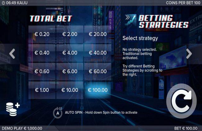 Kaiju :: Betting Options