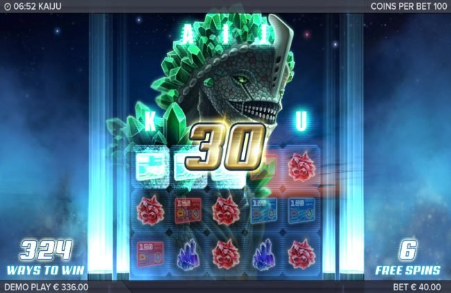 Boaboa featuring the Video Slots Kaiju with a maximum payout of $130,440