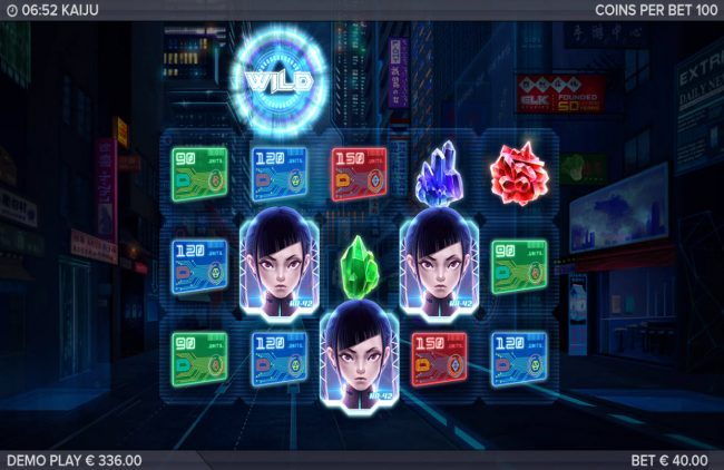 Kaiju :: Scatter win triggers the free spins feature