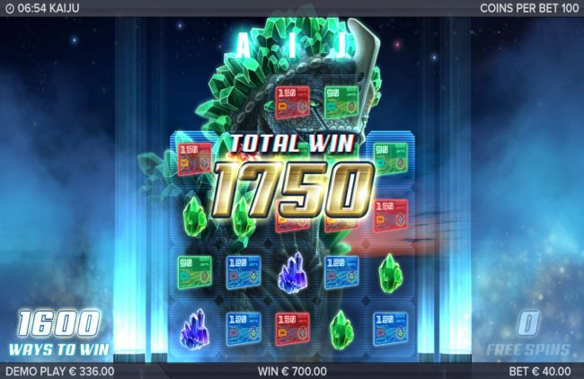 Kaiju :: Total Free Spins Payout