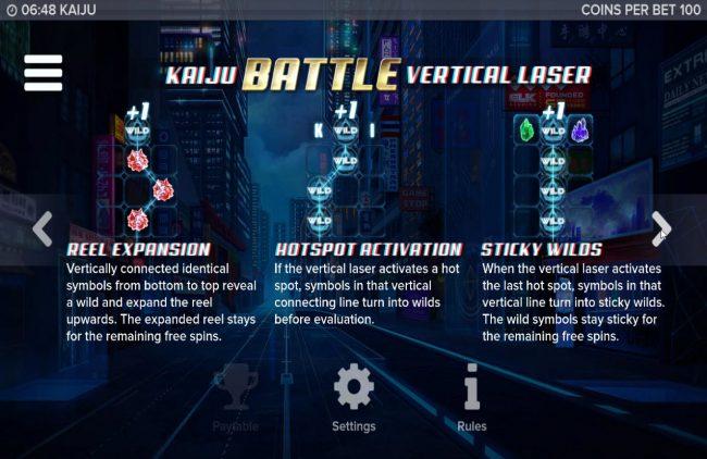 Kaiju :: Bonus Game Rules