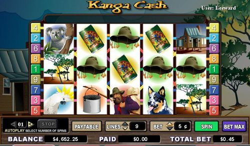 Fruity Vegas featuring the video-Slots Kanga Cash with a maximum payout of 6,000x