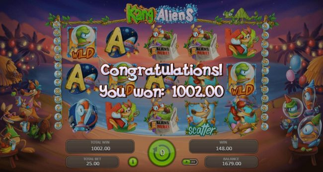 LaFiesta featuring the Video Slots Kang Aliens with a maximum payout of $62,500