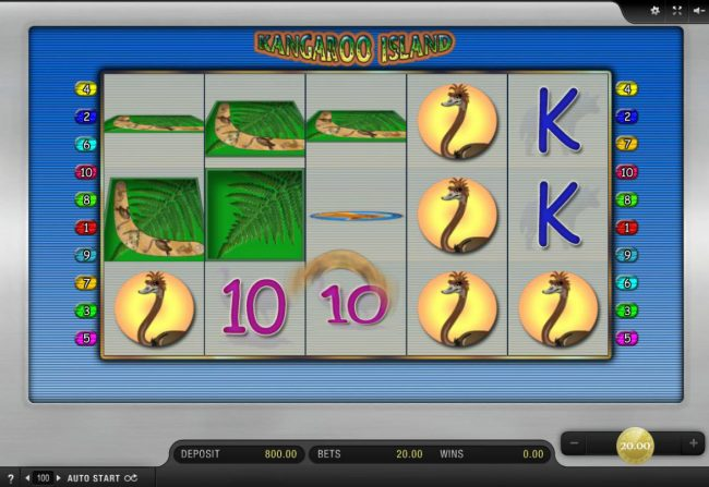 Casino Red Kings featuring the Video Slots Kangaroo Island with a maximum payout of $20,000