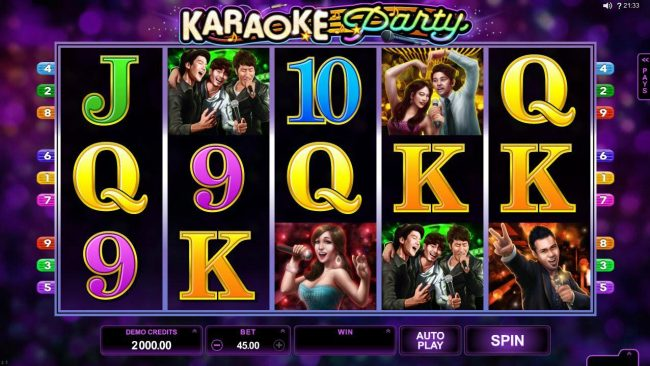 Play slots at First Web: First Web featuring the Video Slots Karaoke Party with a maximum payout of $150,000