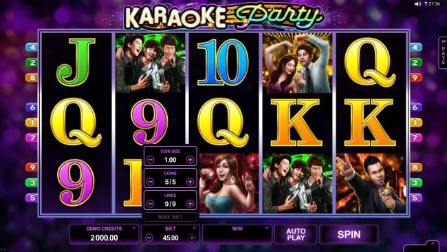 Rich Reels featuring the Video Slots Karaoke Party with a maximum payout of $150,000