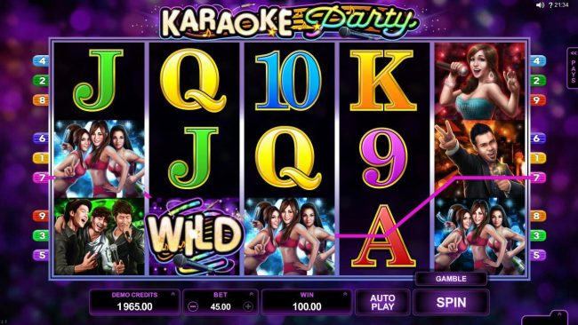 Mummys Gold featuring the Video Slots Karaoke Party with a maximum payout of $150,000
