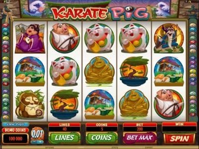 Play slots at Casino 440: Casino 440 featuring the Video Slots Karate Pig with a maximum payout of $25,000